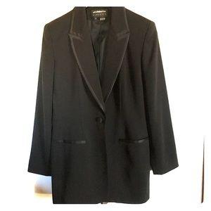 🍭 Liz Claiborne Classic Long Black Tuxedo Jacket